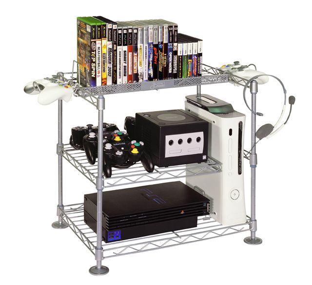 GameKeeper Wire Game Storage Racks Gallery: GameKeeper Three Tier Wire Gaming  Center 3