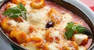 Gratin de gnocchi tomate-mozzarella