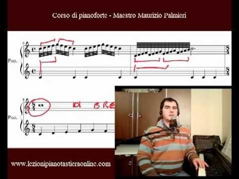 Corso di pianoforte - Lezione 05 - Crome e semicrome, come si eseguono.