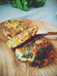 Kotlety ziemniaczano-szpinakowe z serem feta