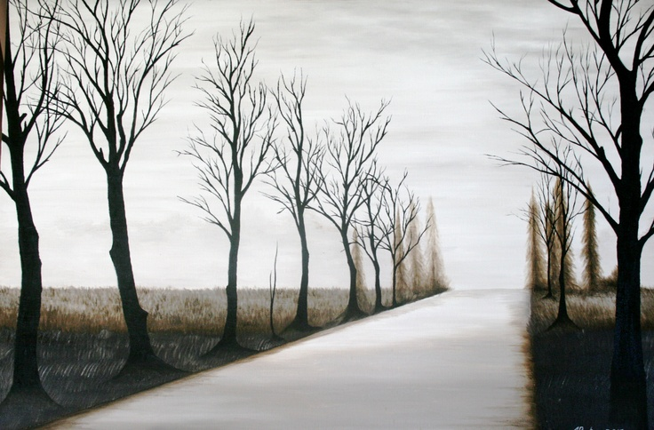 My oil painting, a winters morning