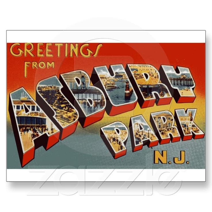 Asbury Park Big Letter Postcard Big letters