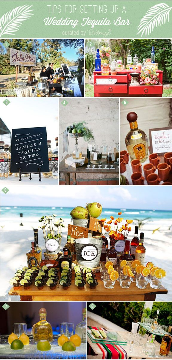 Tips for How to Set Up a Tequila Bar at Your Wedding | as featured on the Wedding Bistro at Bellenza. #tequilabarweddings #tequilabar