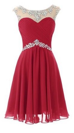 Red prom dress, homecoming dress