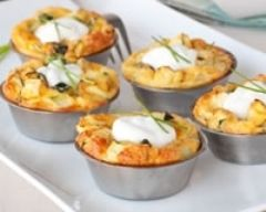Mini-quiches au son d'avoine et poireaux (facile, rapide) - Une recette CuisineAZ