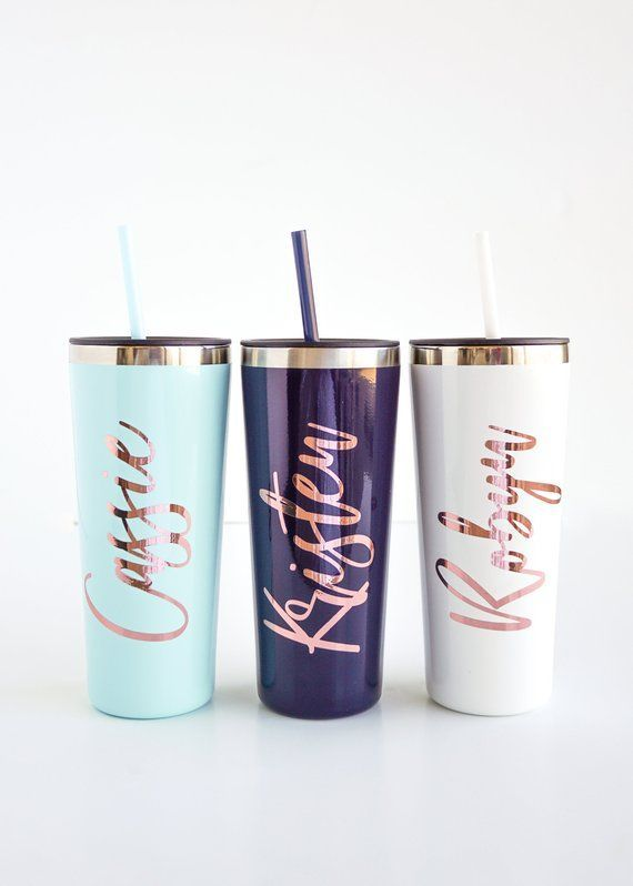 Coffee Travel Cups Water Bottle Vinyl Decal for Stainless Tumblers
