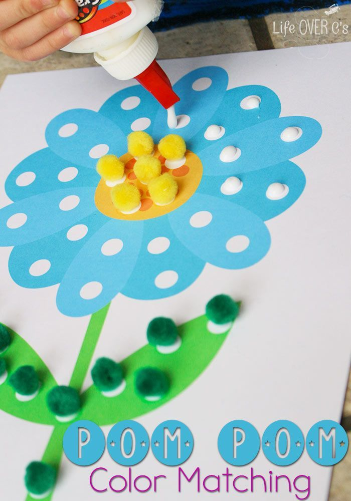 Learning Colors With Pom Poms Is So Much Fun These Free Spring Printables Are Perfect