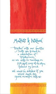Most gorgeous modern Indian wedding invitation I have ever seen!