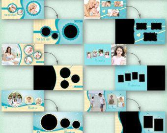 24x12 Photo Album Template Pack, 6 Templates, Photo Collage, Yearbook Templates, Photoshop Templates, Photo Template, Scrapbook Templates