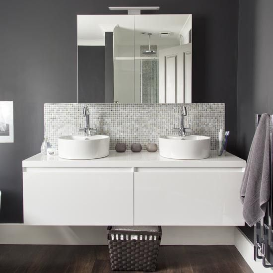 Twin basin vanity unit | Bathroom | Makeover | PHOTO GALLERY | Ideal Home | Housetohome.co.uk