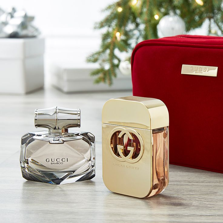 Two gorgeous gifts in one stunning bag. We're loving this set from #Gucci! #Bamboo #Guilty