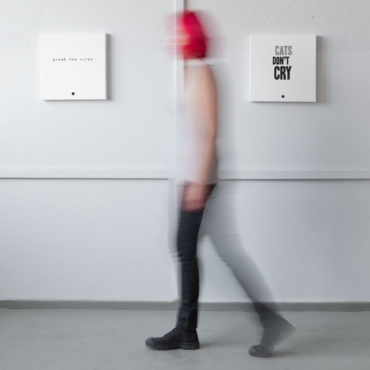 typography canvases - break the rules | cats don't cry - Mint Mouse -  www.mintmouse.com