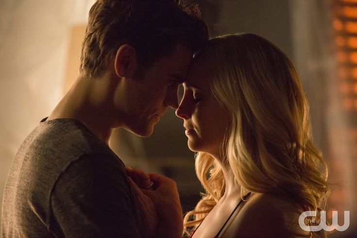 """The Vampire Diaries -- """"Today Will be Different"""" --Image Number: VD802b_0275.jpg -- Pictured (L-R): Paul Wesley as Stefan and Candice King as Caroline -- Photo: Erika Doss/The CW -- © 2016 The CW Network, LLC. All rights reserved."""