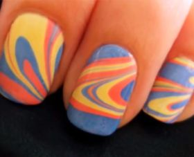 How to: watermarble nails