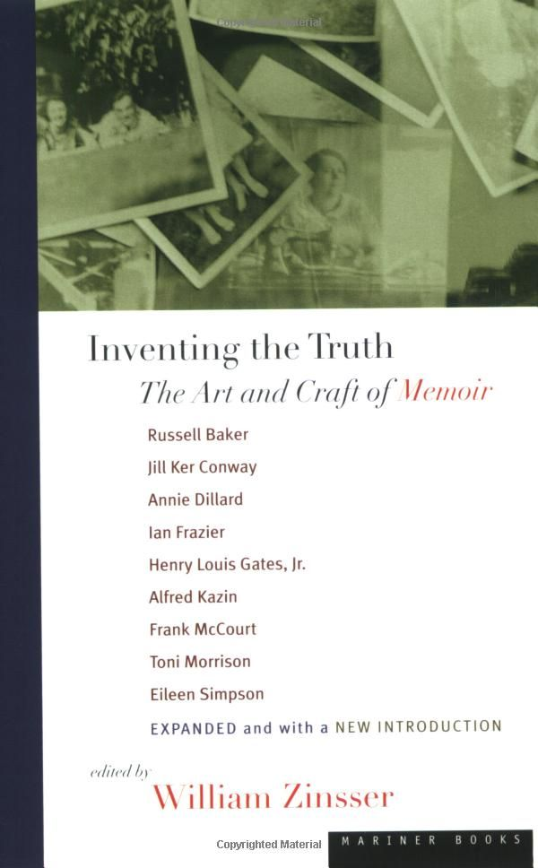 best memoir writing images memoir writing  russell baker essays inventing the truth the art and craft of memoir by william zinsser
