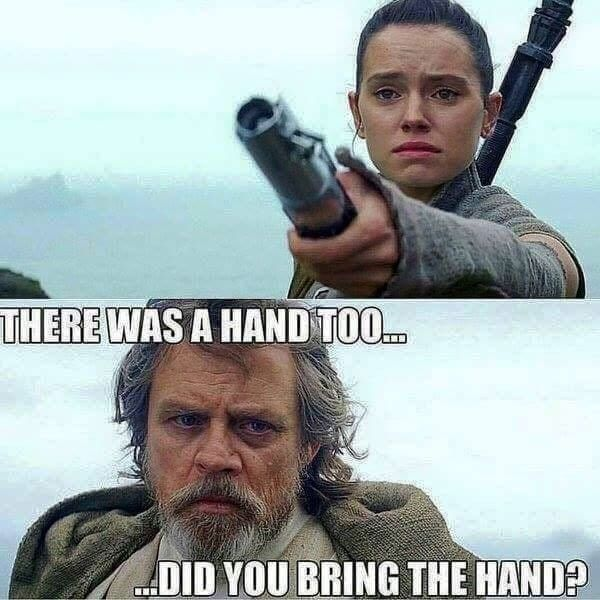 Rey And Luke Meme May The Fourth Maythefourth Starwars Maythe4th Star Wars Humor Star Wars Memes Star Wars Quotes
