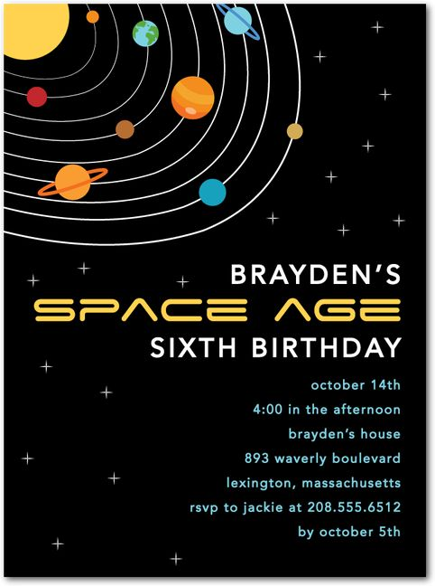 86 best hello little one birthday party invitation designs for Space themed stationery
