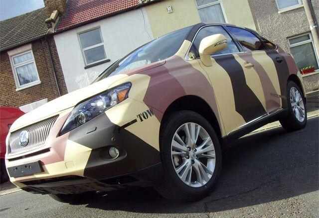 Lexus rs 450 camo wrap