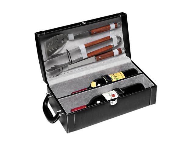 High Society Wine Case & Bbq Set