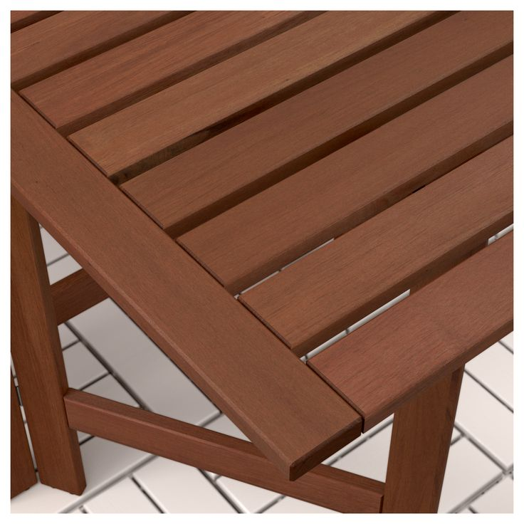 IKEA - ÄPPLARÖ Table and 4 folding chairs, outdoor brown stained