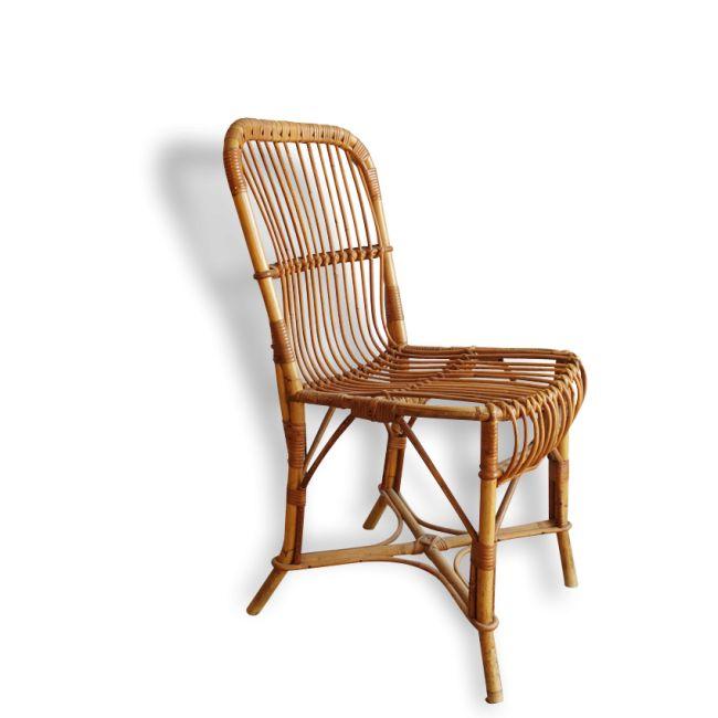 Chaise rotin rotin et osier marron bon tat - Chaise rotin vintage ...