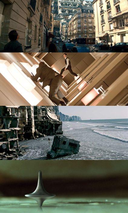 Inception (2010) | dir. C. Nolan. Director of Cinematography: Wally Pfister. Guy Hendrix Dyas (production design), Larry Dias and Doug Mowat (set decoration)..