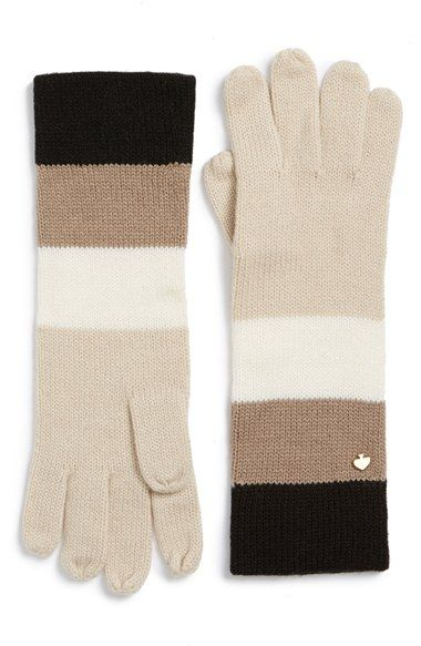 kate spade new york colorblock stripe gloves available at #Nordstrom