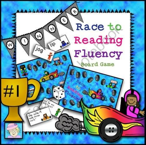 Race to Reading Fluency Board Game from TeacherTam on TeachersNotebook.com -  (20 pages)  - I created this engaging, race-themed board game just for beginning readers. I love to use reading games in my classroom. They are a great way to practice sight word recognition and fluency.  This set comes with a game board,  cards sets for 3 levels of pl