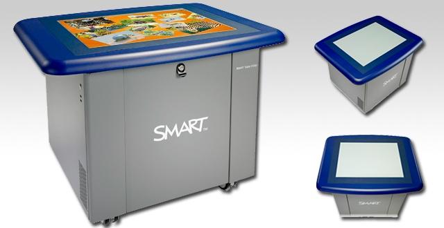 Il tavolo SMART multituoch, multiutente centro di apprendimento interattivo che consente a gruppi di studenti di lavorare simultaneamente sulla sua superficie.