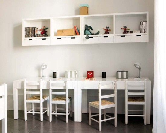 Or this (but for 2). I have a long very narrow space... but need some color in there!