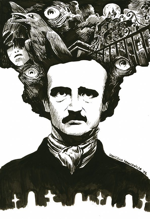 "pabdesk: "" the nineteenth was Poe's birthday and the awesome Francavilla did this cool tribute. """