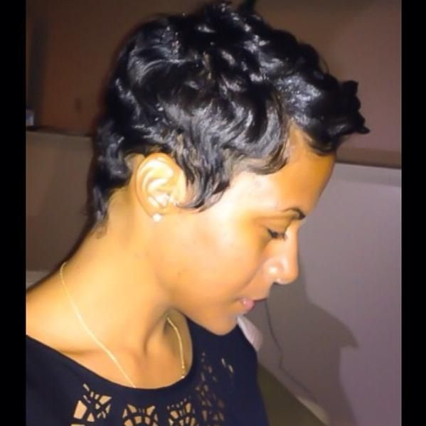 Admirable 1000 Images About Cute Styles Fingerwaves Amp Soft Curls On Short Hairstyles For Black Women Fulllsitofus