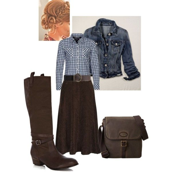 A fashion look from January 2013 featuring Hilfiger Denim tops, American Eagle Outfitters jackets and Eastex skirts. Browse and shop related looks.