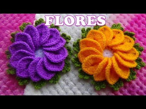 Como tejer Flores a crochet para tapetes y centros de mesa paso a paso FÁCIL Y RÁPIDO - YouTube