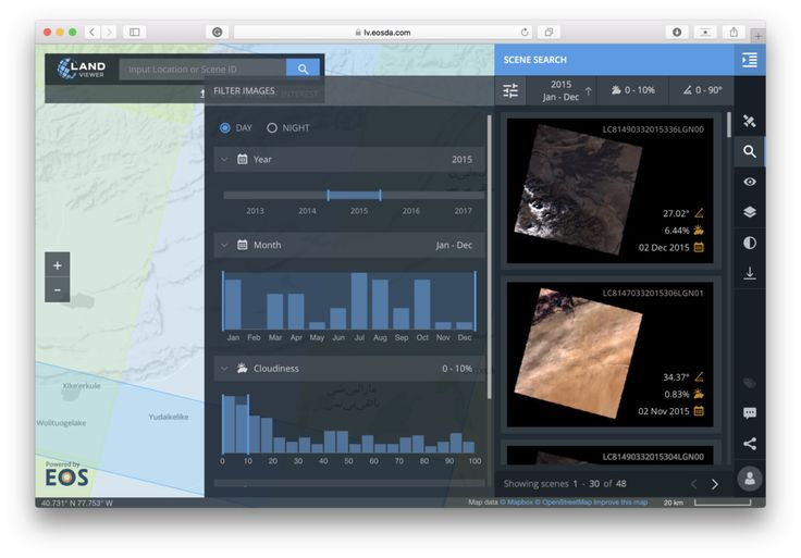 This web tool will let you find and analyze any satellite imagery