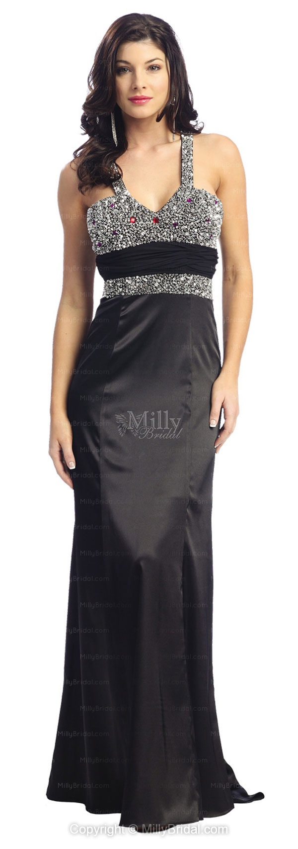 Sheath/Column Straps Satin Floor-length Multi Colours Evening Dress