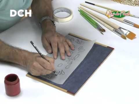 2º clase pintura decorativa. Estilo Bauern, técnica doble carga