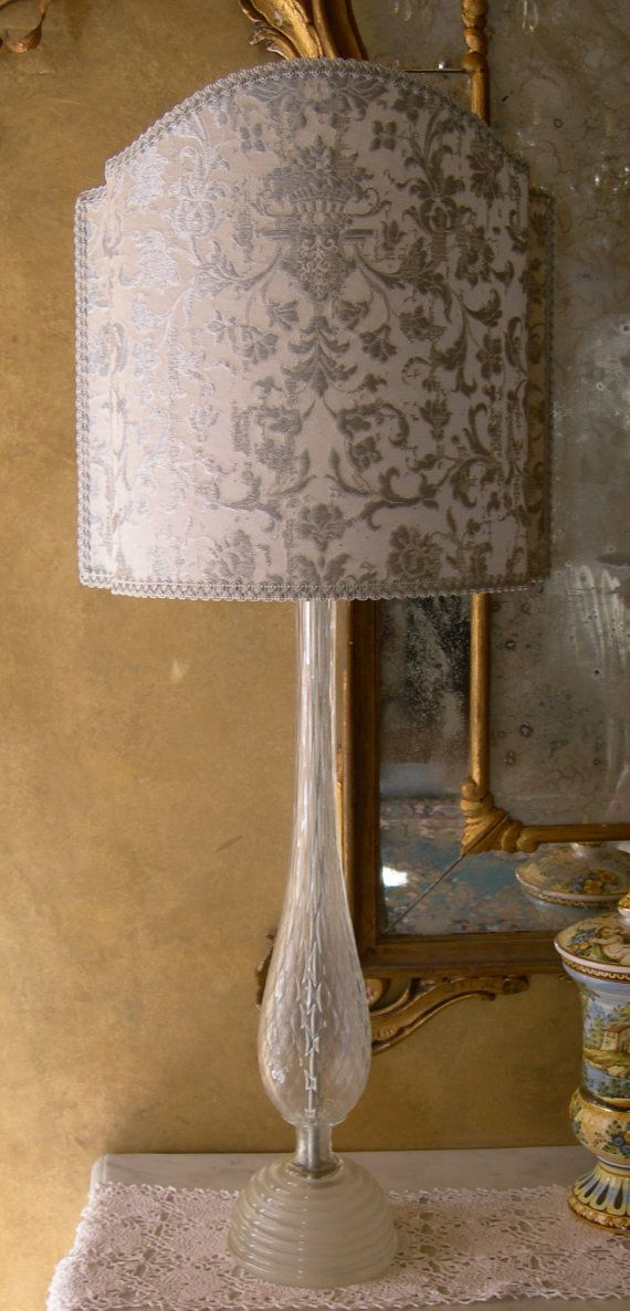 Vintage Murano Glass Table Lamp with Rubelli by OggettiVeneziani, €240.00