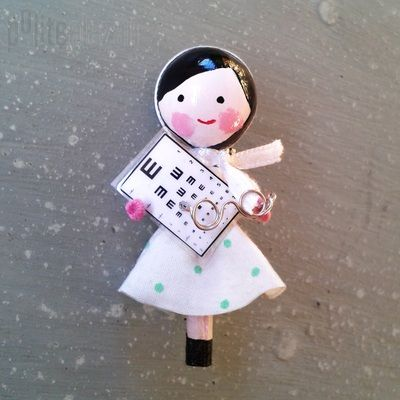 PERSONALIZED DOLL BROOCH