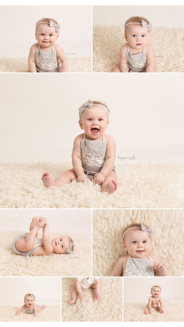 6-Month Old Baby Girl Sitter session all neutrals Inspiration Waterdown Baby Photographer - Hope + Salt Photography