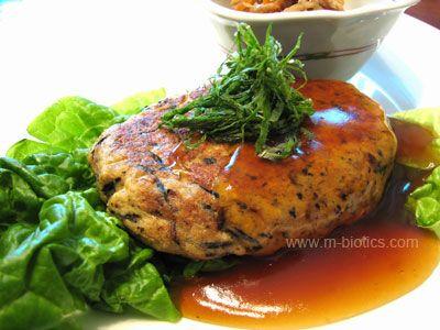 玉ねぎ豆腐ハンバーグ和風あんかけ マクロビオティック料理