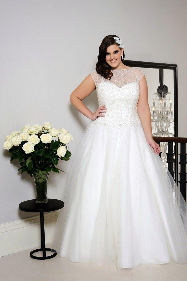 Atractivos vestidos de novia para gorditas
