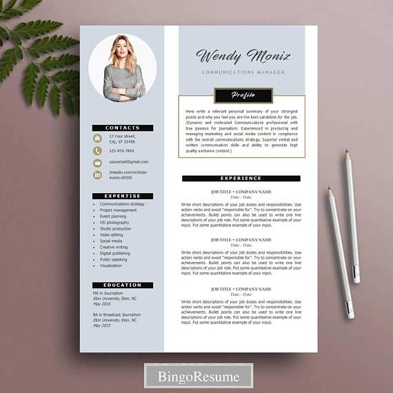 Resume Template Cv Template Instant Download Ms Word Etsy Resume Template Word Creative Resume Templates Resume Template