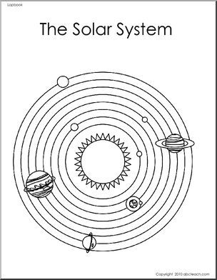 Lapbook: The Solar System (primary/elem) - An eight page lapbook about the solar system, with templates for pockets, matchbooks, flaps, booklet and more.