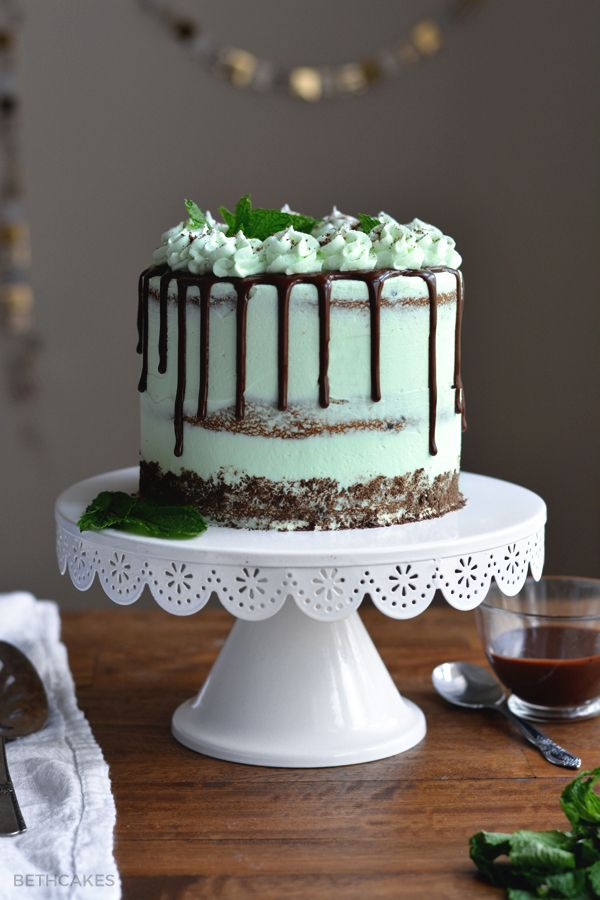 Mint Chocolate Chip Cake - Lorann's peppermint bakery emulsion can be used instead of the peppermint extract in this recipe with great results.