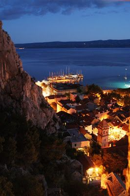 Amazing view from top of the tower in Omis, Croatia.
