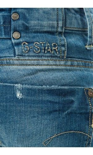 JEANS REGULAR MIDGE G STAR BLEU DELAVE DESTROY