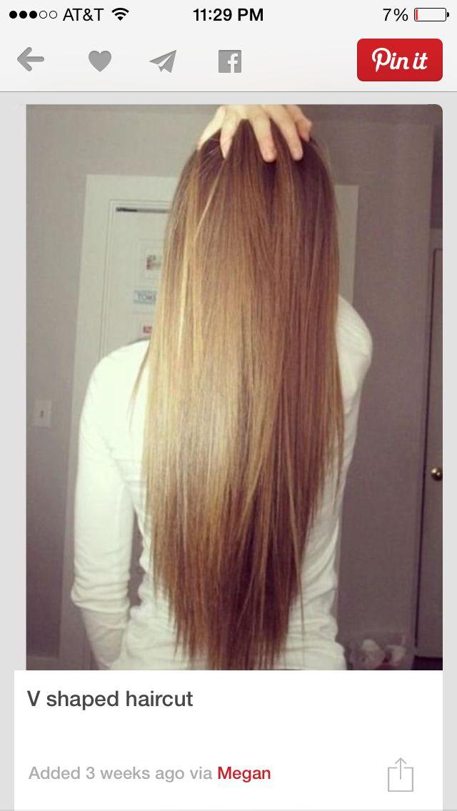 v shaped haircut front view - photo #7