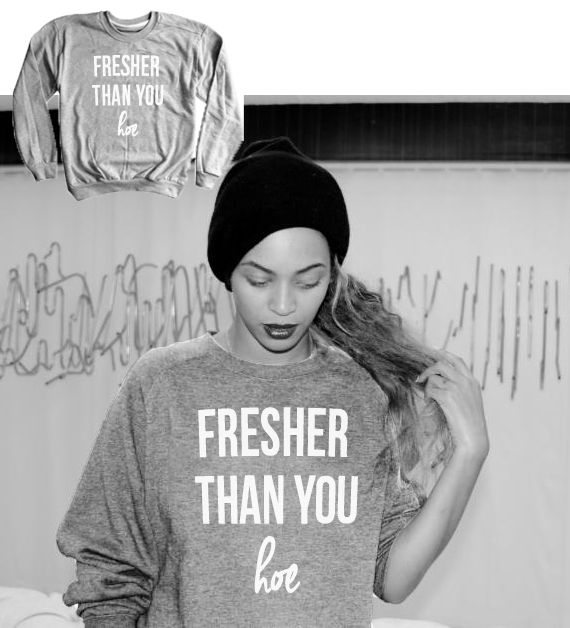 Shop new 7/11 I'm Fresher than you Sweaters from Luxury Brand LA    Hand screen printed on 100% extra soft ring-spun combed cotton, pre-laundered for minimal shrinkage. Extra thick for extra warmth, yet breathable.  Unisex size – women may prefer to order one size smaller  Available for Wom...