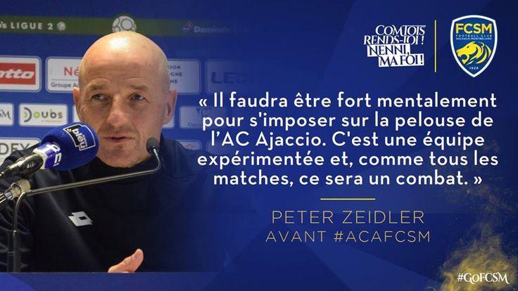🦁FC Sochaux-Montbéliard🇫🇷  🦁FC SOCHAUX GREEK FANS🇬🇷 AC Ajaccio-FC Sochaux-Montbéliard⚽ Domino's Ligue 2 🏆#WEEK 2️⃣️7️⃣ #PRESENTATION 🎙️📡  🎙️📡 Retrouvez les principales déclarations de Peter Zeidler et Florent Ogier à la veille du déplacement sur le terrain de l'AC Ajaccio pour le compte de la 2️⃣️7️⃣️e journée de Domino's Ligue 2 :↩️ http://www.fcsochaux.fr/fr/index.php/article/11102